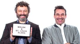 Jon Hamm and Michael Sheen Teach You St. Louis and Welsh Slang