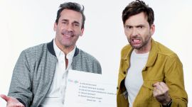 Jon Hamm & David Tennant Answer the Web's Most Searched Questions