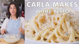 Carla Makes White Pesto Pasta