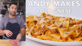 Andy Makes Pasta with Bolognese Sauce
