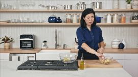 Christina Makes Roasted Chicken with Crispy Potatoes & Salsa Verde