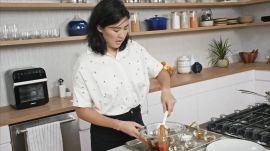 Christina Makes Hot Honey Shrimp and Creamy Grits