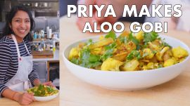 Priya Makes Roasted Aloo Gobi