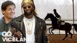 2 Chainz and Mark Cuban Check Out the Most Expensivest Horses   GQ & VICELAND