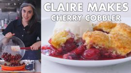 Claire Makes Cherry Cobbler