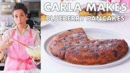 Carla Makes a Giant Blueberry Pancake