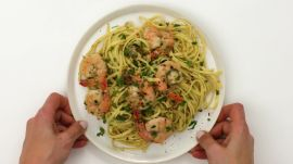 Shrimp & Linguine with Piccata Compound Butter