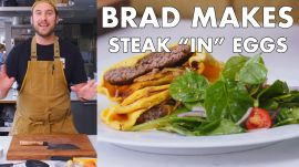 "Brad Makes Steak ""In"" Eggs"