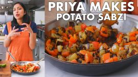 Priya Makes Red Pepper and Potato Sabzi