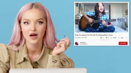 Dove Cameron Watches Fan Covers on YouTube