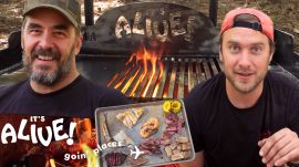 Brad Makes Surf & Turf on an Outdoor Grill Part 2