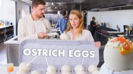 Pro Chef Learns How to Cook Ostrich Eggs