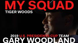 Captain Tiger Woods Dishes on 2019 U.S. Presidents Cup Team Player Gary Woodland
