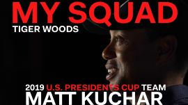 Captain Tiger Woods Dishes on 2019 U.S. Presidents Cup Team Player Matt Kuchar