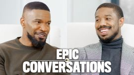 Michael B. Jordan and Jamie Foxx Have an Epic Conversation