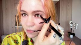 Watch Grimes Do Her Pregnancy Skincare and Psychedelic Makeup Routine
