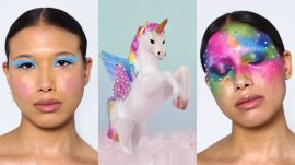 3 Makeup Artists Turn a Model Into a Unicorn
