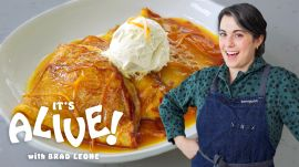 Claire Makes Sourdough Crêpes Suzette