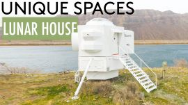 Inside a Precisely Designed Lunar Lander Replica House