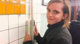 Emma Watson Hides Books Around the New York City Subway