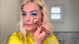 How Bebe Rexha Gets Rid of Dark Circles—And Masters Bright Blue Eyeshadow
