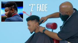 "Zion Williamson's ""Z"" Fade Haircut Recreated by a Master Barber"