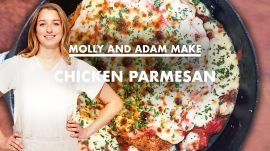 Molly and Adam Make Chicken Parmesan at Home