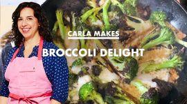 Carla Makes Cheesy Broccoli Delight at Home