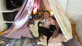 Gaby Melian Does the Blanket Fort Challenge