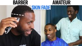 Professional Barber Teaches Amateurs How to do a Fade