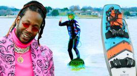 2 Chainz Checks Out an $11.4K Motorized Surfboard