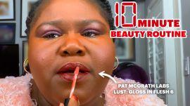 Gabourey Sidibe's 10 Minute Brunch Beauty Routine