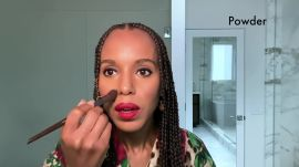 Kerry Washington Shares Her Step-by-Step Guide to Foolproof Eyeliner and a Bold Red Lip—Just in Time for Holiday Zooms