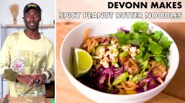 DeVonn Makes Spicy Peanut Butter Noodles with Sausage