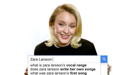 Zara Larsson Answers the Web's Most Searched Questions