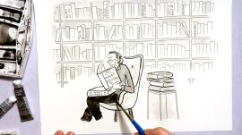 How to Draw All The Unread Books Weighing On Your Conscience