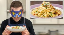 Recreating Rachael Ray's Crab Carbonara from Taste