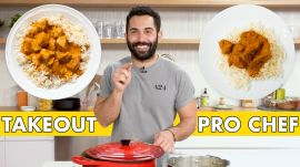 Pro Chef Tries to Make Chicken Tikka Masala Faster Than Delivery