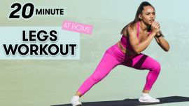 20-Minute Legs Workout for Strength - No Equipment with Warm Up & Cool Down