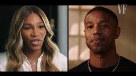 Michael B. Jordan & Serena Williams in Conversation at Vanity Fair Cocktail Hour, Live!