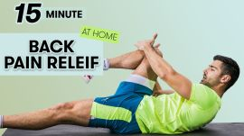 15-Minute Back Pain Relief Workout - 9 Exercises At Home