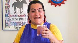 Salty Blueberry + Ginger Margarita