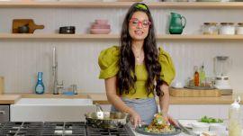 Vegan chef Priyanka Naik tackles cleanup of her Crispy Stuffed Poblano