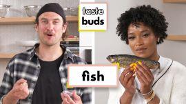 Keke Palmer & Brad Try 6 Types of Fish