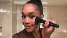 Laura Harrier Shares Her Easy Evening Makeup Look and the Skin-Care Routine That Cured Her Acne