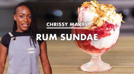 Chrissy Makes Rum Coconut Sundaes