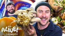 Brad Makes Smoked Mushrooms