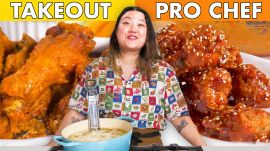 Pro Chef Tries To Make Chicken Wings Faster Than Delivery