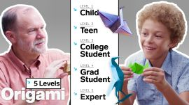 Physicist Explains Origami in 5 Levels of Difficulty