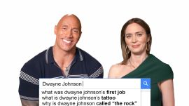 Emily Blunt & Dwayne Johnson Answer The Web's Most Searched Questions